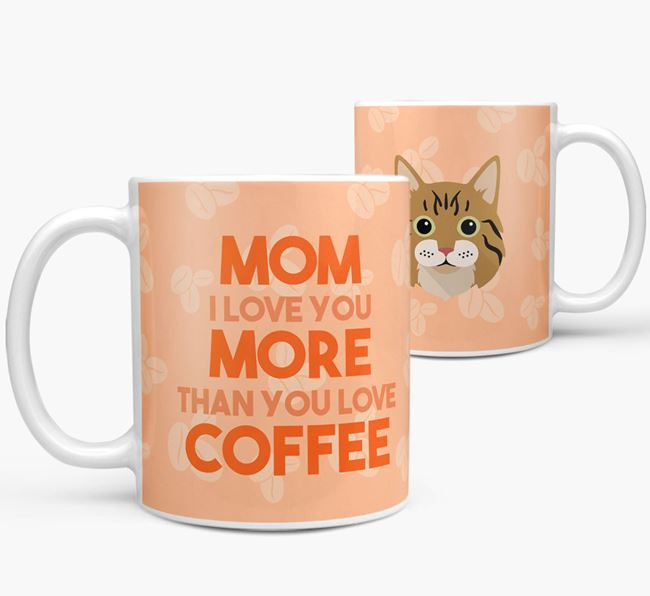 'More than Coffee' - Personalized Cat Mug