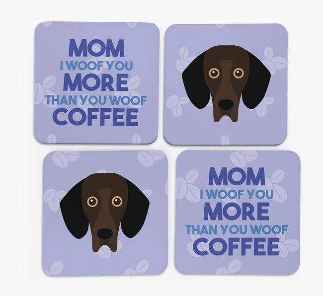 'More than Coffee' - Personalized Bassador Coasters (Set of 4)