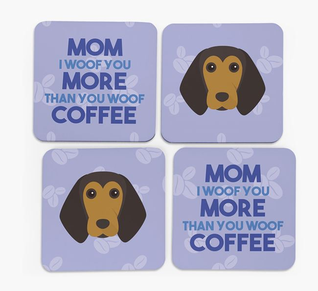 'More than Coffee' - Personalized Beagle Coasters (Set of 4)