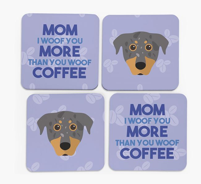 'More than Coffee' - Personalized Beauceron Coasters (Set of 4)