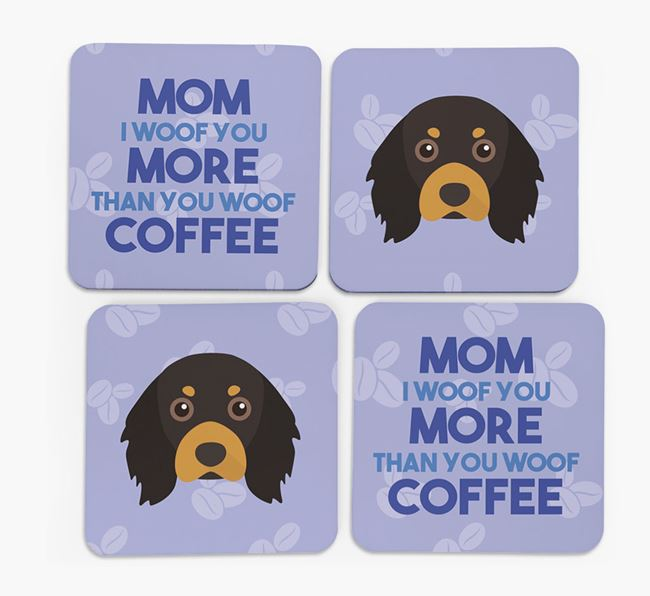 'More than Coffee' - Personalized Cavalier King Charles Spaniel Coasters (Set of 4)