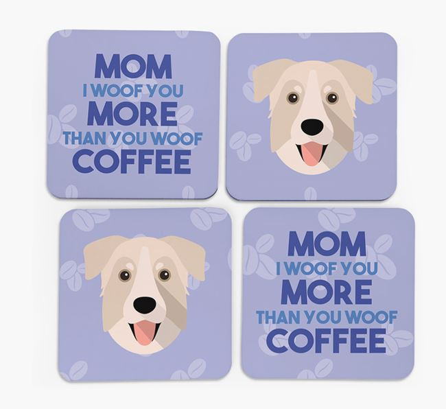 'More than Coffee' - Personalized Chinook Coasters (Set of 4)