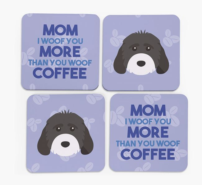 'More than Coffee' - Personalized Cockapoo Coasters (Set of 4)