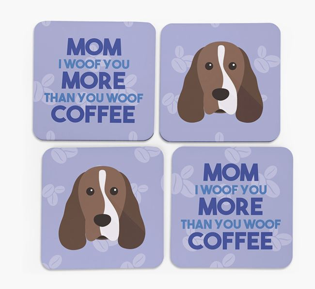 'More than Coffee' - Personalized Cocker Spaniel Coasters (Set of 4)