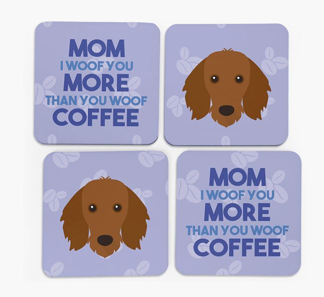 'More than Coffee' - Personalized Dachshund Coasters (Set of 4)
