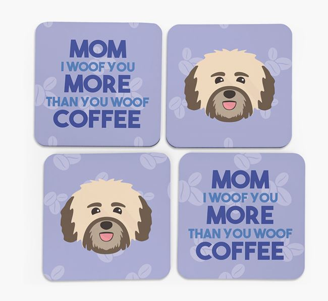 'More than Coffee' - Personalized Havanese Coasters (Set of 4)