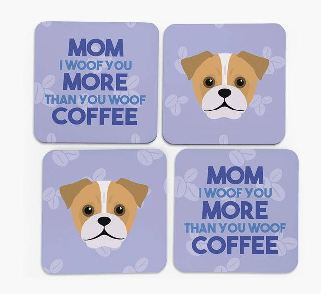'More than Coffee' - Personalized Jug Coasters (Set of 4)