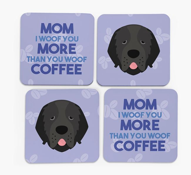 'More than Coffee' - Personalized Newfoundland Coasters (Set of 4)