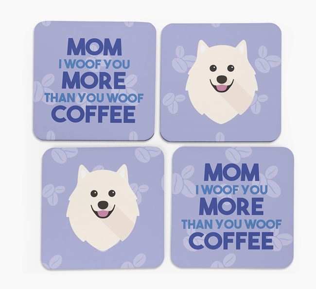'More than Coffee' - Personalized Samoyed Coasters (Set of 4)