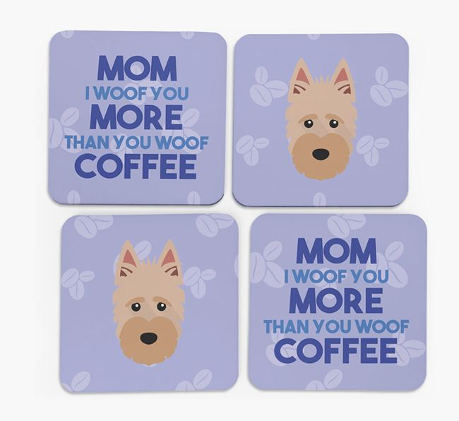 'More than Coffee' - Personalized Scottish Terrier Coasters (Set of 4)
