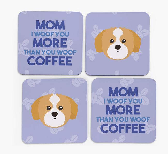 'More than Coffee' - Personalized Shih Tzu Coasters (Set of 4)