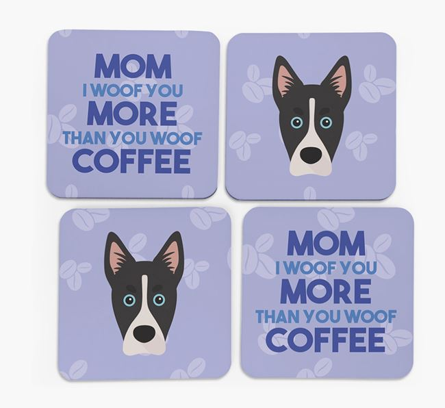 'More than Coffee' - Personalized Siberian Cocker Coasters (Set of 4)