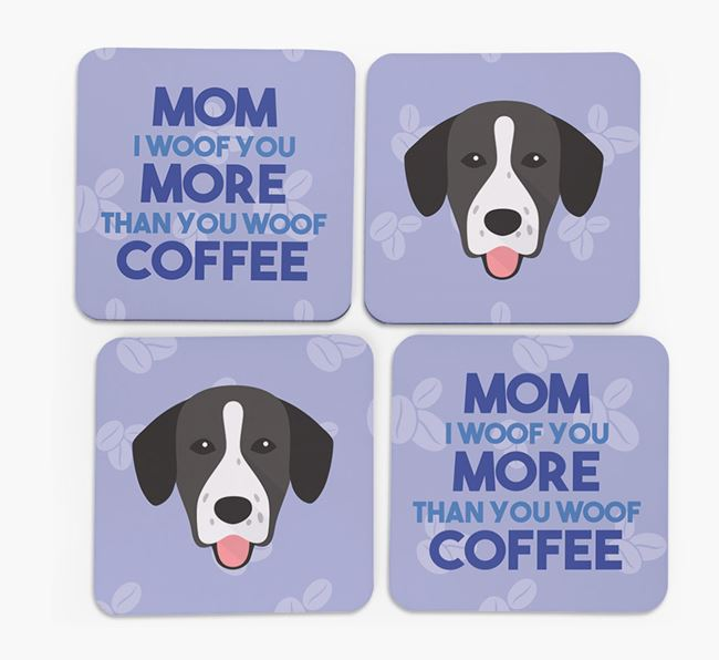 'More than Coffee' - Personalized Springador Coasters (Set of 4)