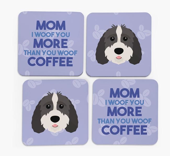 'More than Coffee' - Personalized Sproodle Coasters (Set of 4)