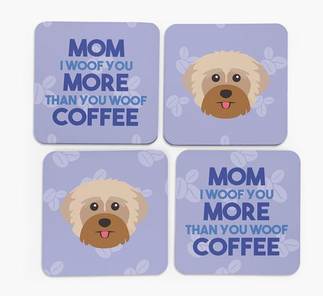 'More than Coffee' - Personalized Yorkshire Terrier Coasters (Set of 4)