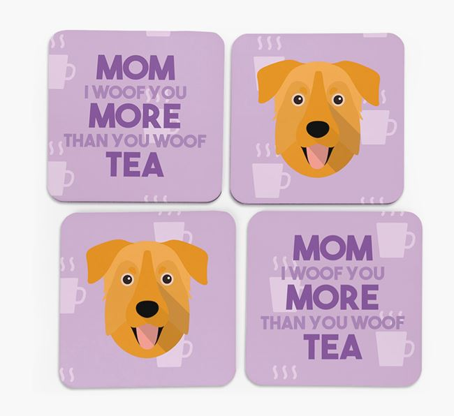 'More than Tea' - Personalized Chinook Coasters (Set of 4)