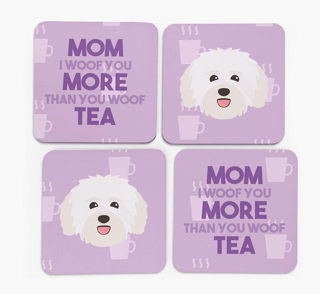 'More than Tea' - Personalized Havanese Coasters (Set of 4)