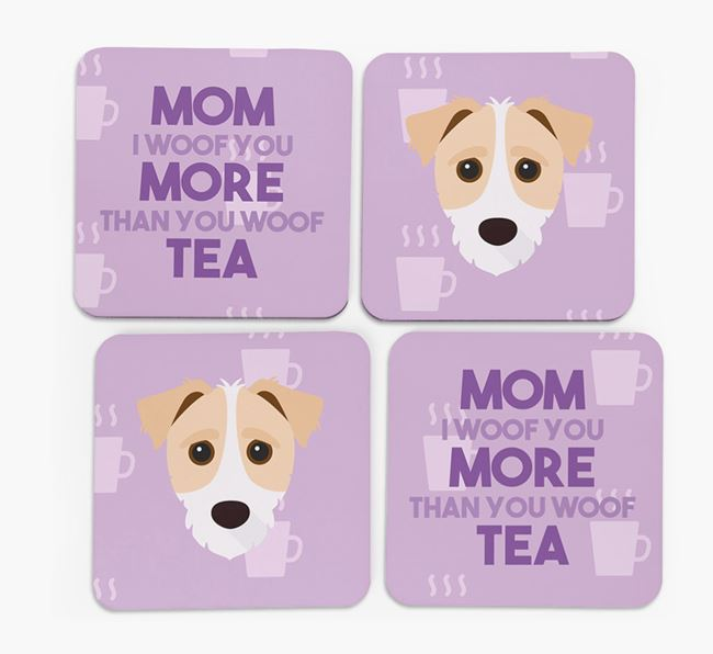 'More than Tea' - Personalized Jack-A-Poo Coasters (Set of 4)