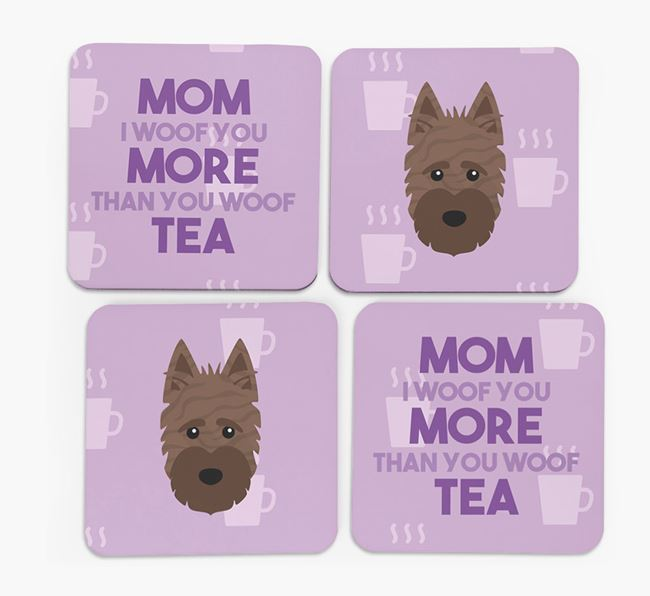 'More than Tea' - Personalized Scottish Terrier Coasters (Set of 4)