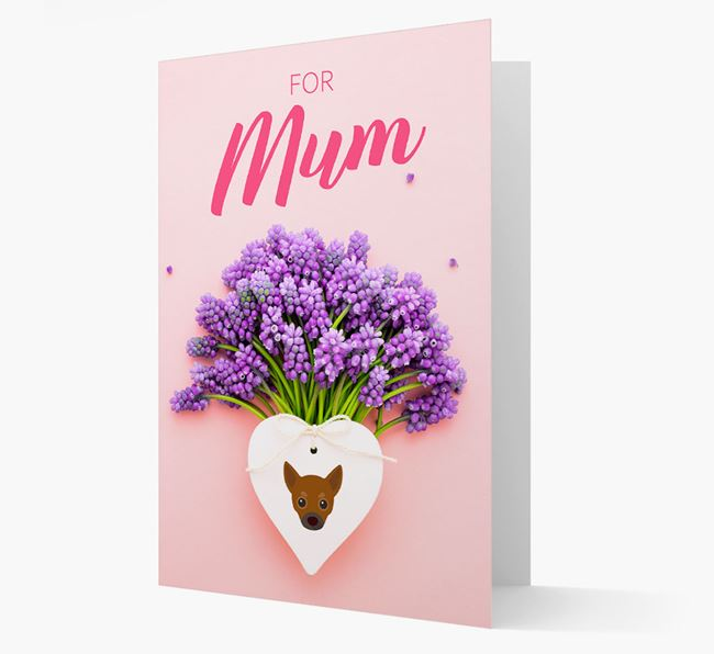 Lavender Heart - Personalised Chihuahua Card