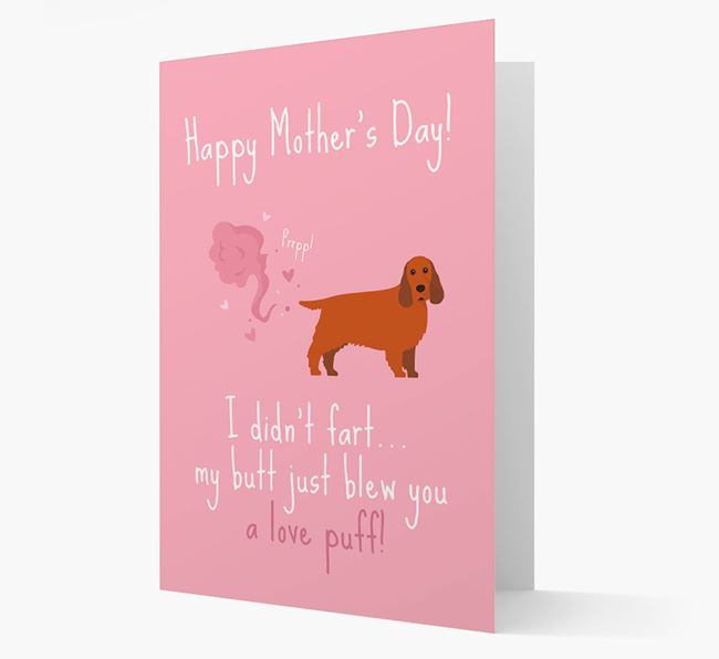 'Love Puff' - Personalized Cocker Spaniel Card