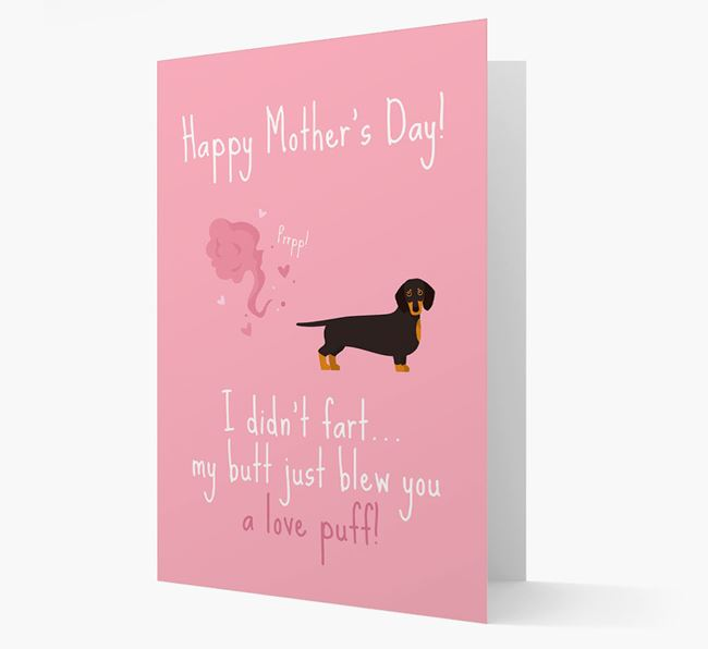 'Love Puff' - Personalized Dog Card