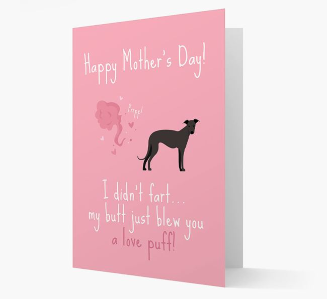 'Love Puff' - Personalized Greyhound Card