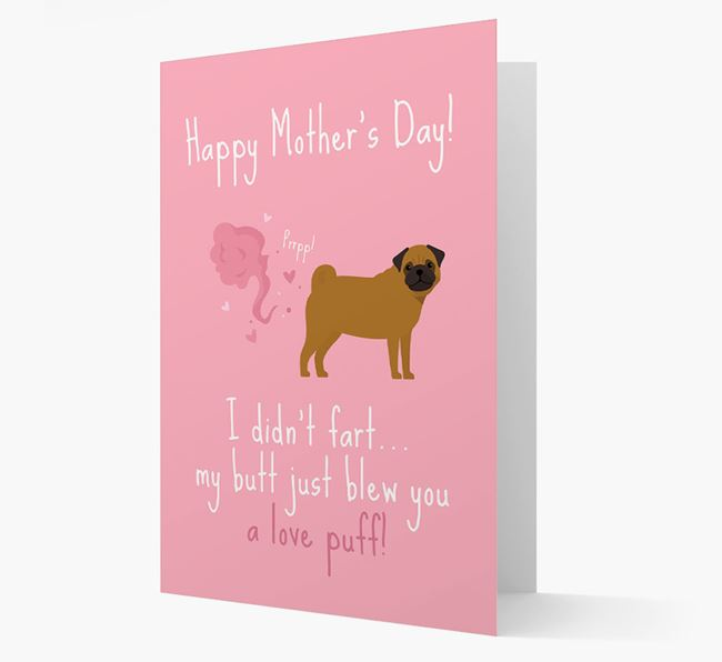 'Love Puff' - Personalized Pug Card