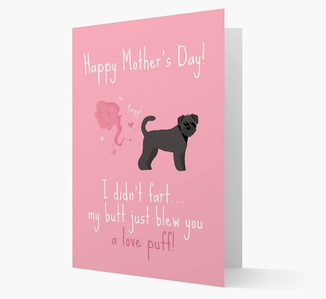 'Love Puff' - Personalized Schnoodle Card