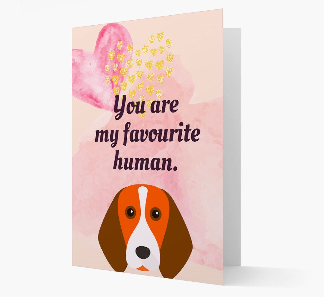 'Favourite Human' card with Beagle Icon