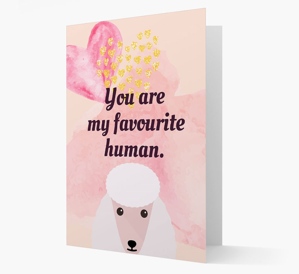 'Favourite Human' card with Poodle Icon