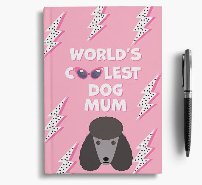 'Coolest Dog Mum' - Personalised Poodle Notebook