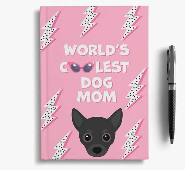 'Coolest Dog Mom' - Personalized Chihuahua Notebook