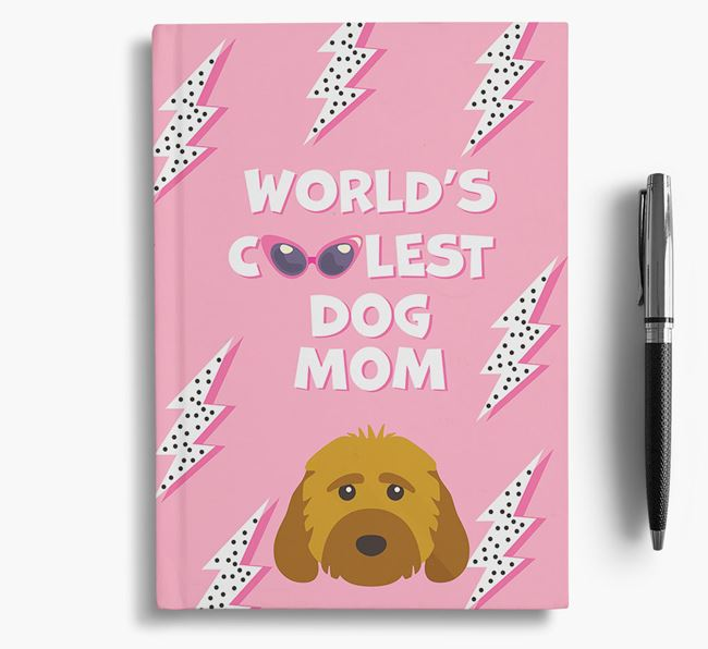 'Coolest Dog Mom' - Personalized Cockapoo Notebook