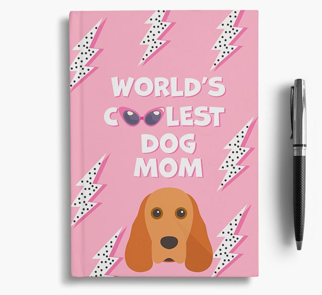 'Coolest Dog Mom' - Personalized Cocker Spaniel Notebook