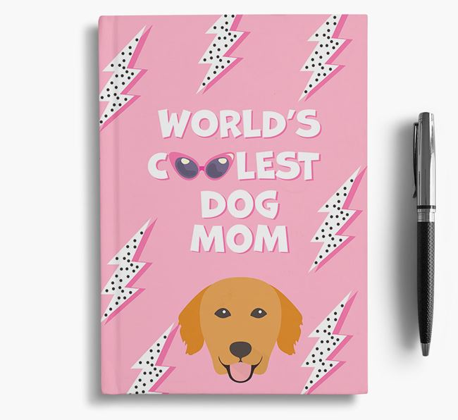 'Coolest Dog Mom' - Personalized Golden Retriever Notebook