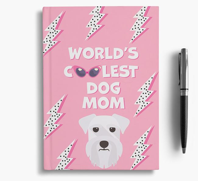 'Coolest Dog Mom' - Personalized Schnauzer Notebook