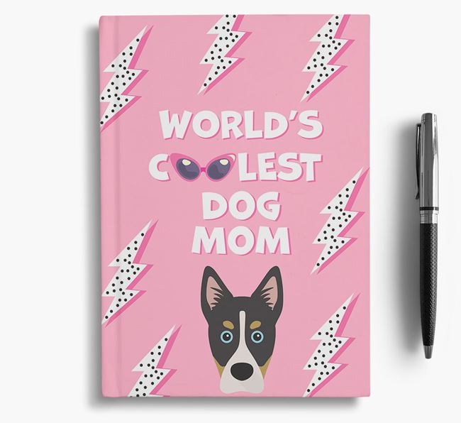 'Coolest Dog Mom' - Personalized Siberian Cocker Notebook