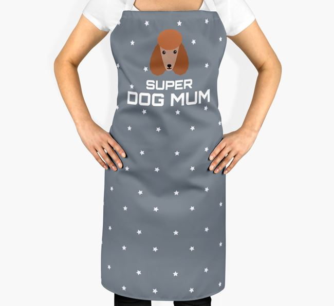'Super Dog Mum' - Personalised Poodle Apron