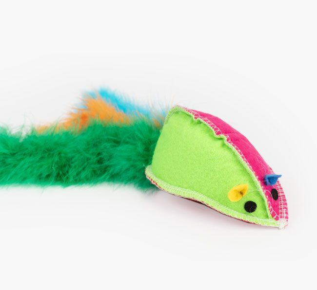 Giant Refillable Catnip Mouse Cat Toy for your Siamese