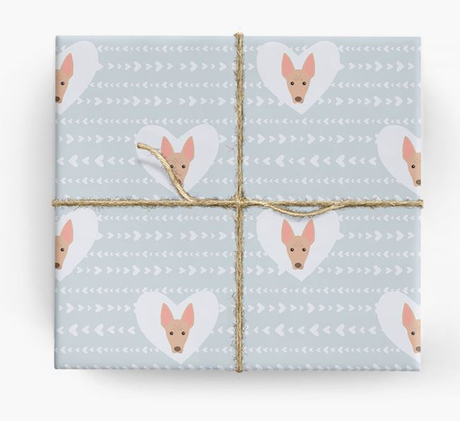 'Hearts' Wrapping Paper with American Hairless Yappicons