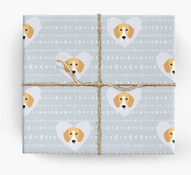 'Hearts' Wrapping Paper with Bassador Yappicons
