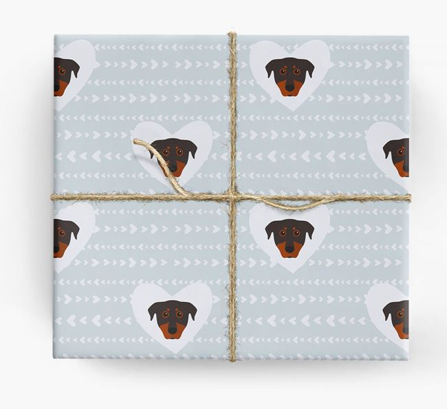 'Hearts' Wrapping Paper with Beauceron Yappicons