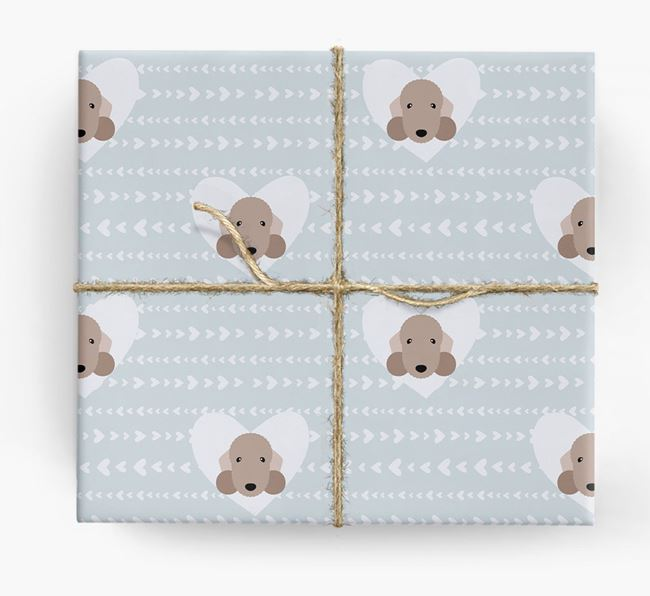 'Hearts' Wrapping Paper with Bedlington Yappicons