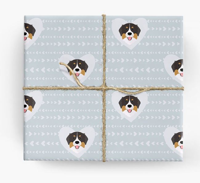 'Hearts' Wrapping Paper with Bernese Yappicons