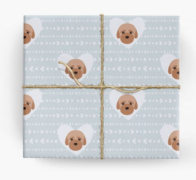 'Hearts' Wrapping Paper with Bich-poo Yappicons