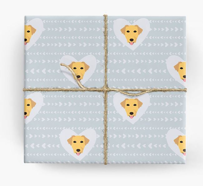 'Hearts' Wrapping Paper with Borador Yappicons