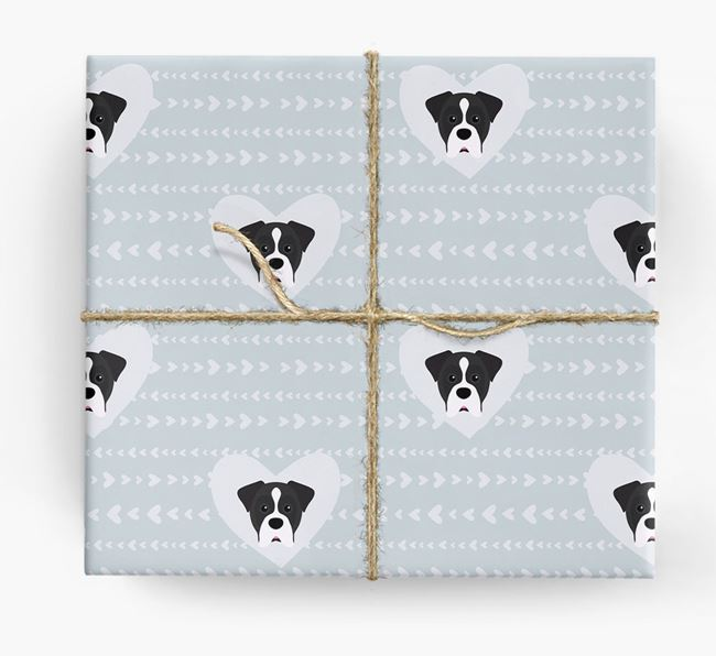 'Hearts' Wrapping Paper with Boxer Yappicons