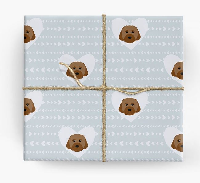 'Hearts' Wrapping Paper with Cavachon Yappicons