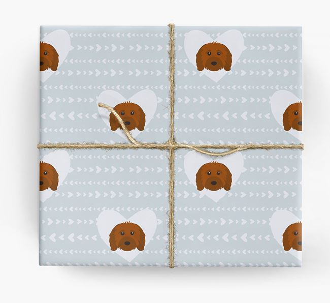 'Hearts' Wrapping Paper with Cavapoo Yappicons